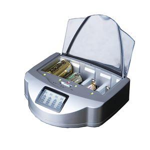 乾電池充電器 【幅約18cm】 アルカリ ニッカド ニッケル水素対応 安全装置付き 『マルチチャージャー』 〔省エネサポート対策〕 - 拡大画像