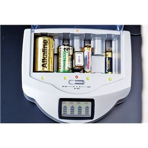乾電池充電器 【幅約18cm】 アルカリ ニッカド ニッケル水素対応 安全装置付き 『マルチチャージャー』 〔省エネサポート対策〕