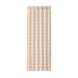 間仕切り用 レースカーテン/パーテーション 【100×200cm】 ベージュ 日本製 洗える カットできる 『パタパタカーテン』 - 拡大画像