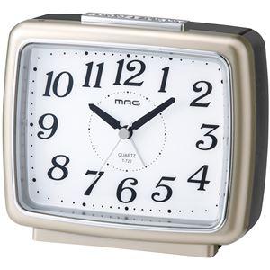 夜間点灯目覚まし時計 ブリリアンシャンペンゴールド - 拡大画像