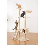猫 ペット キャット タワー アイボリー ペットグローブ1枚付き