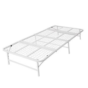 ベッド パイプ 収納式 シングル ホワイト 【完成品】 - 拡大画像