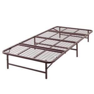 ベッド パイプ 収納式 シングル ブラウン 【完成品】 - 拡大画像
