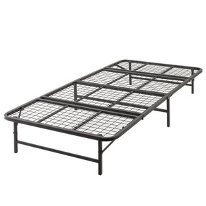 ベッド パイプ 収納式 シングル ブラック 【完成品】 - 拡大画像