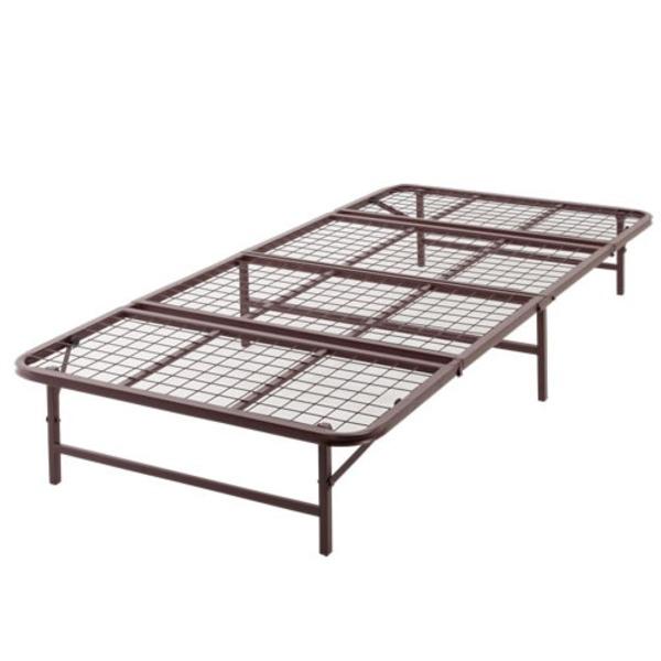 ベッド パイプ 収納式 セミダブル ブラウン 【完成品】