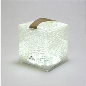 折り畳み可能なソーラー充電式ランタン ソーラーパフ cool bright(白色) - 拡大画像
