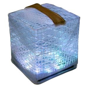 ソーラー充電式ランタン/LED照明器具 【5色切り替え可】 折りたたみ可 『ソーラーパフ』 - 拡大画像