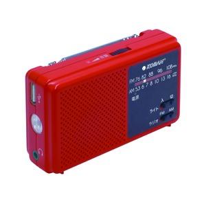 備蓄ラジオ/防災用品 【高輝度白色LEDライト付き】 長期保管可 AM/FM 165g - 拡大画像