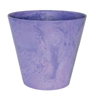 【2個入】底面給水型植木鉢/プランター アートストーン ラウンド型/22cm 底栓付 グレープ(紫) 〔ガーデニング用品/園芸〕 - 拡大画像