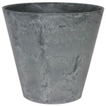 底面給水型 植木鉢/プランター 【ラウンド型 グレー 直径27cm】 底栓付 『アートストーン』 〔園芸 ガーデニング用品〕