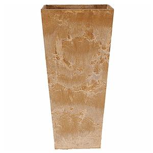 底面給水型植木鉢/プランター アートストーン 【トールスクエア/40cm×高さ90cm】 底栓付 ベージュ 〔ガーデニング用品/園芸〕 - 拡大画像