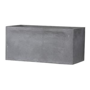ファイバークレイ製 軽量植木鉢 バスク プランター 80cm グレー - 拡大画像