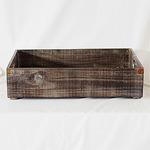レトロ調 園芸用ウッドボックス/フラワーボックス 【アンティークブラウン LLサイズ】 幅56cm 木製 苗箱 『カルチベーター』