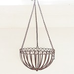 吊下げ型プランター/植木鉢 【アンティークブラウン 直径24cm】 鉄製 アイアンハンギングバスケット BM 『カルチベーター』