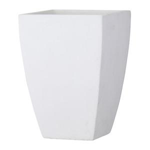 ファイバークレイ製 軽量植木鉢 バスク スクエアー 35cm ホワイト - 拡大画像