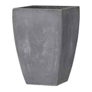 ファイバークレイ製 軽量植木鉢 バスク スクエアー 44cm グレー - 拡大画像