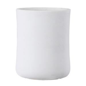 ファイバークレイ製 軽量植木鉢 バスク ミドル 44cm ホワイト - 拡大画像