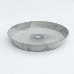 【6個入】植木鉢用受皿/プランター用受皿 【ラウンド型 グレー 直径14cm】 『アートストーン専用』 〔園芸 ガーデニング用品〕 - 拡大画像