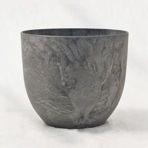 植木鉢 鉢カバー  アートストーン ボーラカバー 28cm 9号 ダークグレー 穴無し