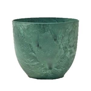 植木鉢 鉢カバー  アートストーン ボーラカバー 38cm 13号 グリーン 穴無し - 拡大画像