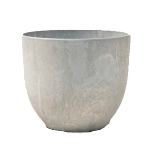植木鉢 鉢カバー  アートストーン ボーラカバー 38cm 13号 サンドストーン 穴無し - 拡大画像