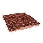 砂利の固定 芝生の保護枠 プラトプラティコ ブラウン 50x50cm
