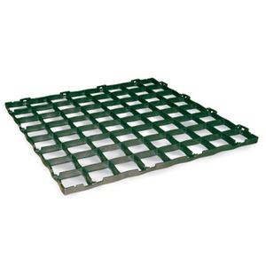 駐車場緑化 ぬかるみ防止用敷マット イージーパーク グリーン 57.8x57.8cm - 拡大画像
