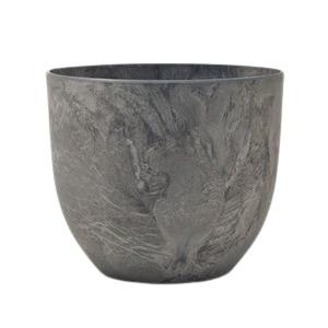 【5個入】植木鉢 鉢カバー  アートストーン ボーラカバー 33cm 11号 ダークグレー 穴無し - 拡大画像