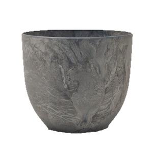 【4個入】植木鉢 鉢カバー  アートストーン ボーラカバー 38cm 13号 ダークグレー 穴無し - 拡大画像