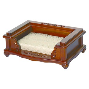 【ペット用家具】Fiore(フィオーレ) ベッド アンティークブラウン - 拡大画像