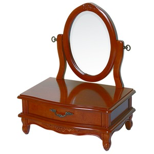 【ペット用家具】Fiore(フィオーレ) 鏡台(ドレッサー) 高さ65cm アンティークブラウン - 拡大画像