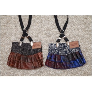 Paisley Denim Skirt  L (Blue) - 拡大画像
