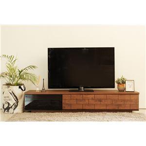 テレビ台(テレビボード/TVボード) 木製 【幅180cm:46型〜80型対応】 ソフトクロージング機能 日本製 ILL ウォーカー ブラウン - 拡大画像