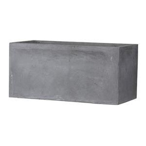 ファイバークレイ製 軽量植木鉢 バスク プランター 100cm グレー - 拡大画像