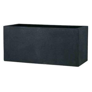 軽量植木鉢/プランター 【ブラック 幅100cm】 穴有 ツヤ消し ファイバー製 『BLキンロス』 - 拡大画像