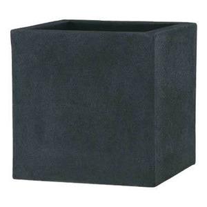 軽量植木鉢/プランター 【ブラック 50cm】 穴有 ツヤ消し ファイバー製 『BL チェルトンハム』 - 拡大画像