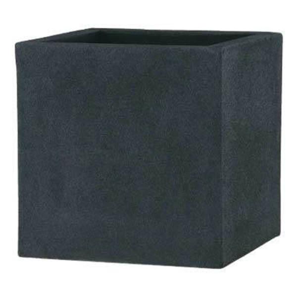 軽量植木鉢/プランター 【ブラック 50cm】 穴有 ツヤ消し ファイバー製 『BL チェルトンハム』