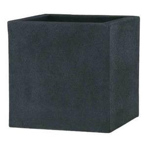 軽量植木鉢/プランター 【ブラック 60cm】 穴有 ツヤ消し ファイバー製 『BL チェルトンハム』 - 拡大画像