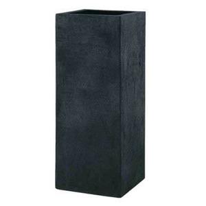 軽量植木鉢/プランター 【ブラック 幅40cm】 穴有 ツヤ消し ファイバー製 『BL ヘリッチ』 - 拡大画像