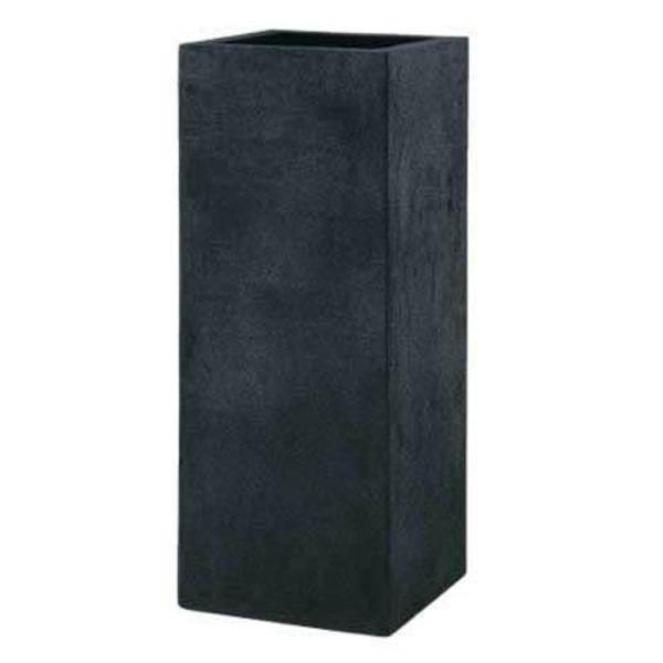 軽量植木鉢/プランター 【ブラック 幅40cm】 穴有 ツヤ消し ファイバー製 『BL ヘリッチ』
