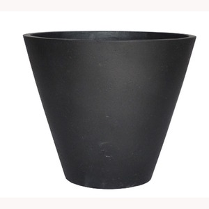 軽量コンクリート製 植木鉢/プランター 【ブラック 直径40cm】 底穴あり 『ストーンライト コニック』 - 拡大画像