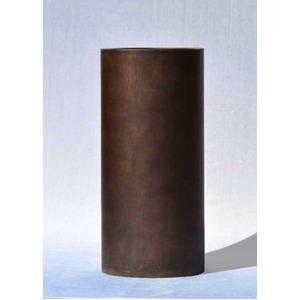 木目調樹脂製鉢カバー MOKU トールシリンダー 33xH82cm - 拡大画像