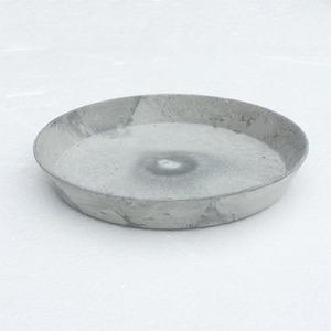【2個入】植木鉢用受皿/プランター用受皿 【ラウンド型 グレー 直径30cm】 『アートストーン専用』 〔園芸 ガーデニング用品〕 - 拡大画像