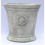 アンティーク調・テラコッタ鉢 ローレル ラウンド アンティコ シューホワイト 33cm /植木鉢