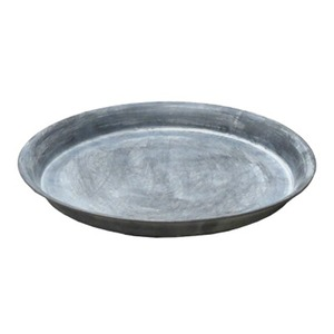 【3個入】 ブリキ製植木鉢用受け皿/ソーサー 【シルバー 直径30cm】 円形 ソーサーBW 『ウーノ』