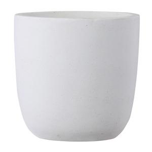 ファイバークレイ製 軽量 大型植木鉢 バスク ラウンド 51cm ホワイト - 拡大画像