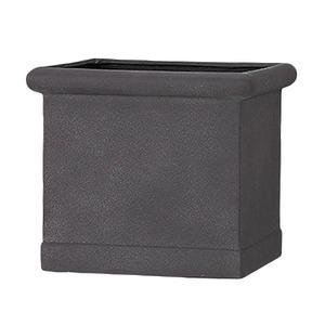 軽量植木鉢/プランター 【グレー 幅43cm】 穴有 ファイバー製 『CLタブポット』 - 拡大画像
