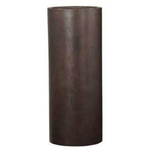 木目調樹脂製鉢カバー MOKU トールシリンダー 40xH100cm - 拡大画像