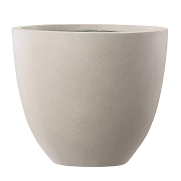 ファイバーセメント製 軽量植木鉢 エルム ラウンド ベージュ 42cm 大型植木鉢