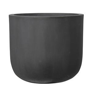 ファイバーセメント製 軽量植木鉢 オーク Uポット アンティークグレー 40cm 植木鉢 - 拡大画像